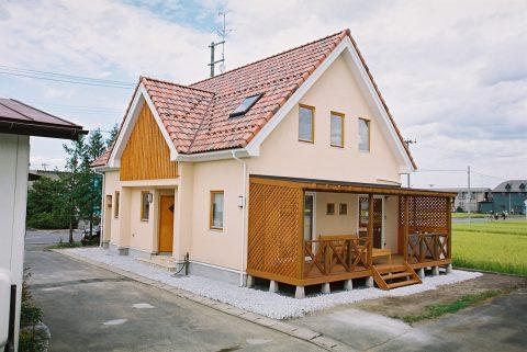 三角屋根の可愛いらしい家