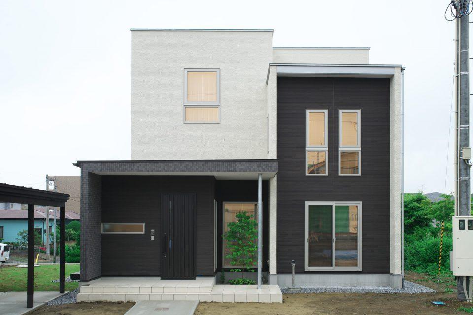 3層スキップフロアの家