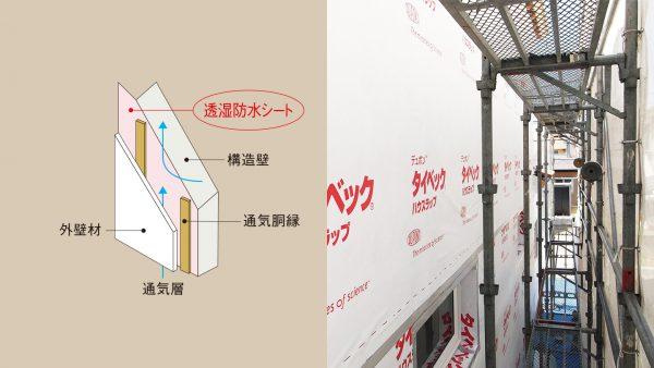 透湿防水シートの施工 篇